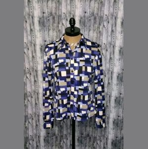 New York & Company Button Front Shirt